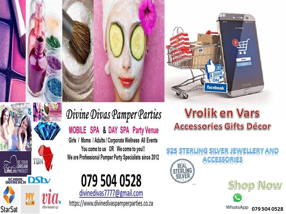 Divine Divas Pamper Parties – Mobile and Day Spa Party Venue Pretoria